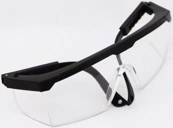 防冲击眼镜/防护眼镜/护目镜/劳保眼镜 蓝架白片/黑架白片