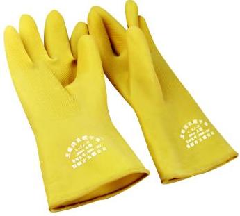 工业级耐酸碱手套/乳胶手套/防护手套 34CM