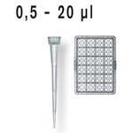 移液器吸头, 0.5-20 µl  散装/补充装, 灭菌/未灭菌