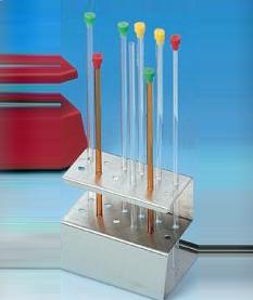 便携式核磁管架(不锈钢),最大外径:5MM,数量:12  适用核磁管最大外径(mm)5 核磁管数量12